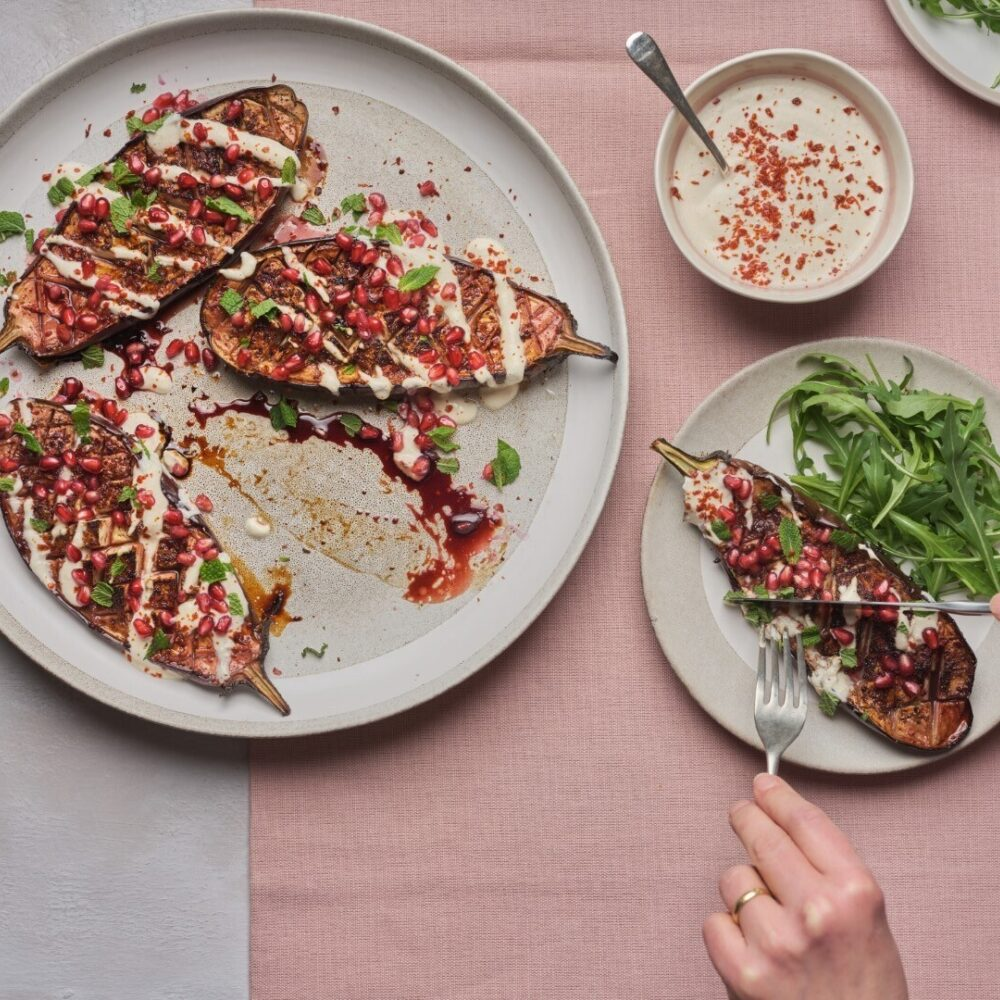 Roast aubergine interactive Large